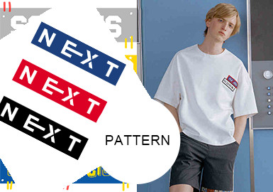Simple Text and Graphics -- Pattern Trend for Menswear