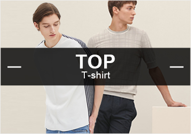 T-Shirt -- Popular Items in Men's Knits in Retail Markets