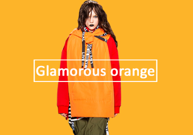 Glamorous Orange -- Solid Color Trend for Women's Sweatshirts
