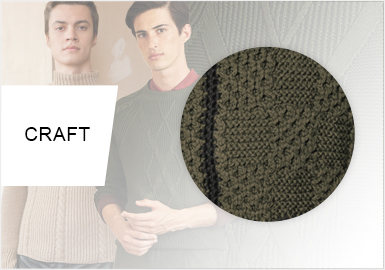 Renewed Cables --  Craft Trend for Men's Knitwear