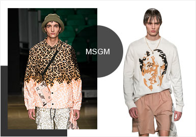 Coast Club -- Analysis of MSGM's Menswear Catwalk