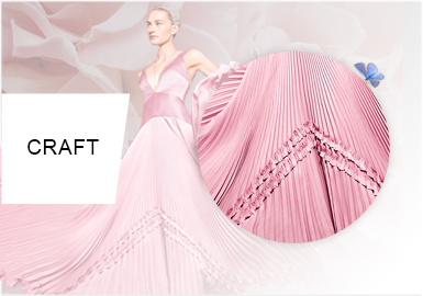 Pleat Aesthetic -- Craft Trend for Women's Formalwear