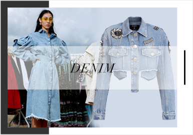 Simple and Soft -- Analysis of Women's Denim Trunk Shows