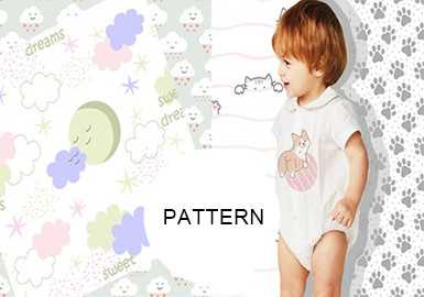 All-Over Scattered Patterns -- Pattern Trend for Baby&Toddler Wear
