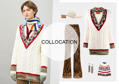 Soft and Warm Heavy-Gauge Knits -- Styling of Women's Knitwear