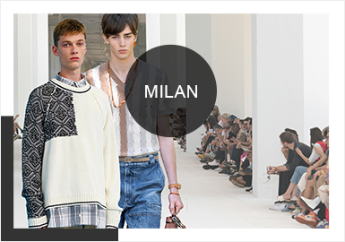 Artistic Italian Merging -- Comprehensive Analysis of Men's Knitwear in Milan Fashion Week