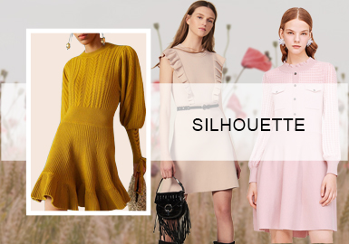 Fluid Hemlines -- Silhouette Trend for Women's Knitted Dresses