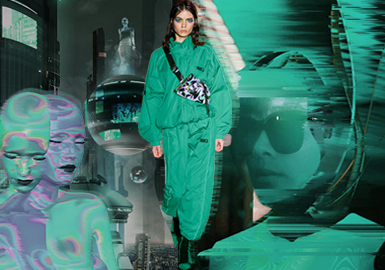 Mechanical Green-- Theme Color Trend for Womenswear