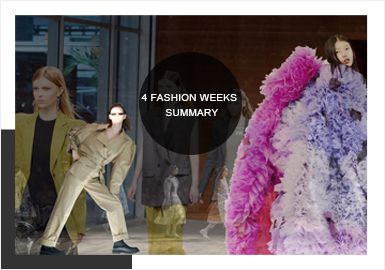 Fashion and Styles -- The Comprehensive Analysis of Four Womenswear Fashion Weeks