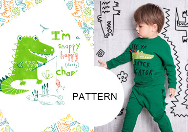 Charming Crocodile- The Pattern Trend for Kidswear