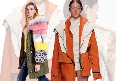 Practical Splicing- The Craft Trend for Women's Parkas