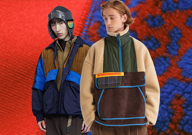 Spliced Materials -- The Craft Trend for Menswear