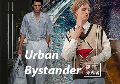Urban Bystander -- Theme Fabric Trend for Menswear