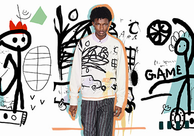 Hand-drawn Creative Graffiti -- The Pattern Trend for Menswear