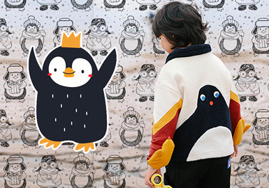 Space Animals Penguin 1-13 Years Kids Hoodie 9 Colours