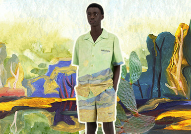 Natural Scenery in Painting -- The Pattern Trend for Menswear