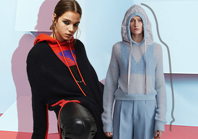 Avant-garde New Fashion -- The Silhouette Trend for Women's Knitwear Sweatshirts