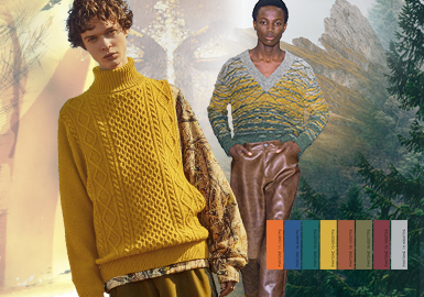 Remodeling -- The Color Trend for Men's Knitwear