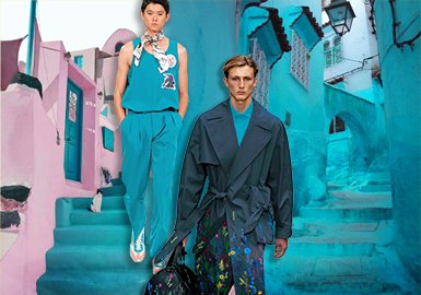 Bluebird -- The Thematic Color Trend for Menswear