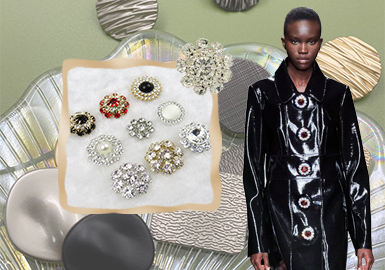 Buttons -- The Accessory Trend for Women's Leather and Fur Clothing