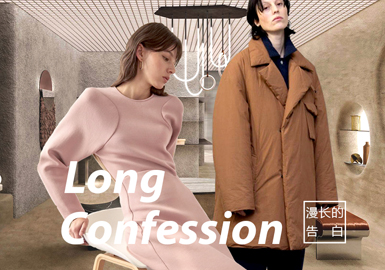Long Confession -- A/W 21/22 Theme Fabric Trend for Womenswear