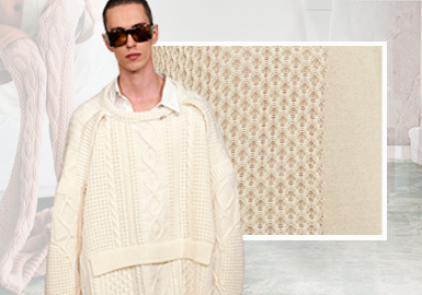 Voluminous Heavy-Gauge -- The Stitch Craft Trend for Men's Knitwear