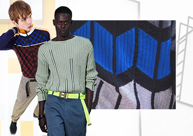 Architectural Geometry -- The Craft Trend for Men's Knitwear