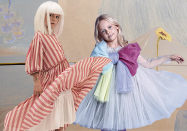 Tranquil and Comfy -- The Silhouette Trend for Girls' Dresses