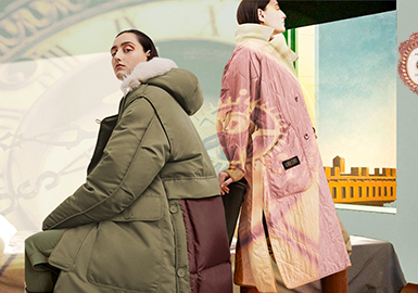 Re-Created Time -- The Color Trend for Fabrics of Women's Puffa Jackets