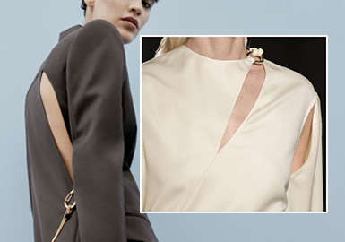 Futuristic Cutouts -- The Craft Detail Trend for Womenswear