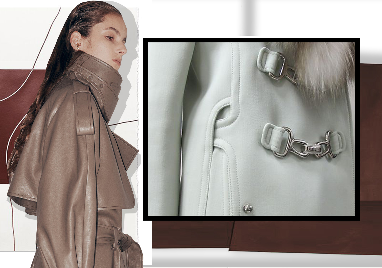 Quality Details -- The Craft Detail Trend for Women's Overcoats and Trench Coats