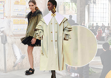 Outerwear -- The Comprehensive Analysis of Fabrics on Womenswear Catwalks