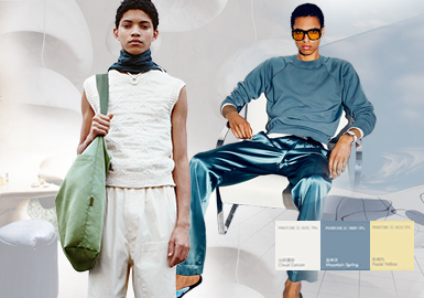 Minimalism -- Thematic Color Trend for Men's Knitwear