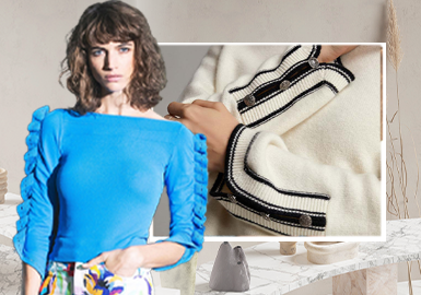 Simplified Sleeves -- The Craft detail Trend for Women's Knitwear