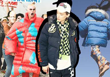 Voluminous Puffa -- 19/20 A/W Silhouette Trend for Menswear