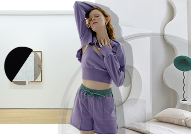 Home Workouts -- The Silhouette Trend for Women's Loungewear