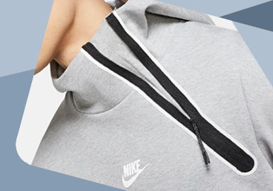Minimalist Fashion -- The Detail Trend for Men's and Women's Sport Sweatshirt
