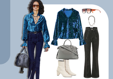 Modern Retro -- The Clothing Collocation of Women's Jeans