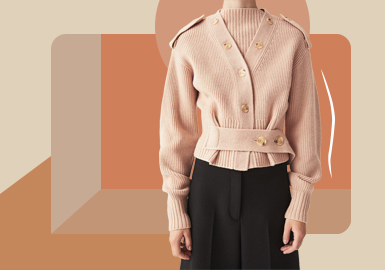 Minimalist Cardigan -- The Silhouette Trend for Women's Knitwear