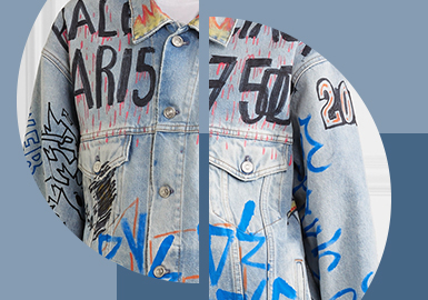 Determine Letters By Myself -- The Pattern Craft Trend for Women's Denim