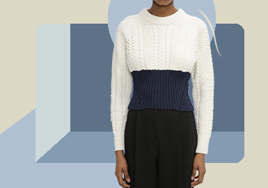 Powerful Lines -- The Silhouette Trend for Women's Knitwear and Pullover