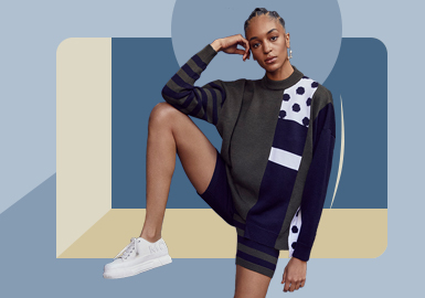 Comfortable Sport -- The Silhouette Trend for Women's Knitwear Set