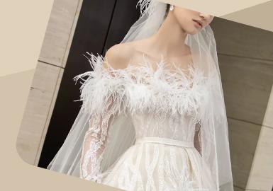 The Design of Neckline -- The Craft Trend for Women's Wedding Dress