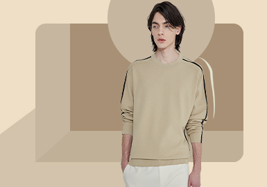 Natural and Minimalist Pullover -- The Item Trend for Men's Knitwear