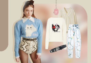 Youthful Formula -- The Clothing Collocation of Women's Knitwear