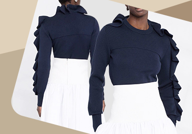 Dancing on the Sleeves -- The Detail Trend for Women's Knitwear