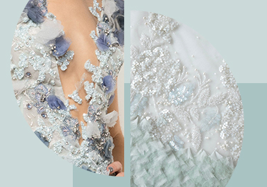 The Combination of Ornaments -- The Pattern Craft Trend for Women's Wedding Dress