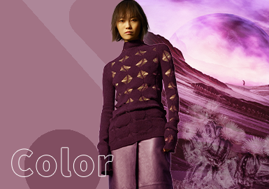 Grape Wine -- The Color Trend for Women's Knitwear