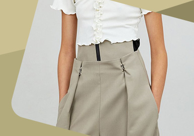 Feminine Waist -- The Detail Craft Trend for Women's Trousers
