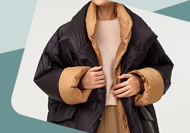 Harmonious Conflict -- The Craft Trend for Women's Patchwork Down Jacket